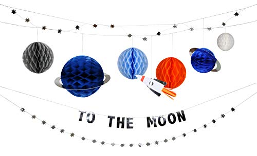 Meri Meri, To The Moon, Galactic Themed, Garland