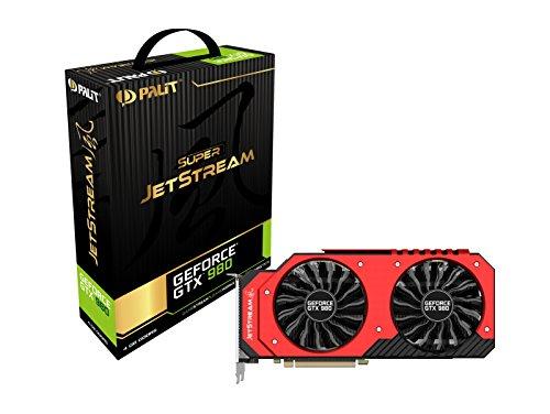 Palit NE5X980H14G2J Nvidia 980 Super Jetstream Grafikkarte (PCI-e 4096,GDDR5, HDMI, DVI Displayport 1 GPU)