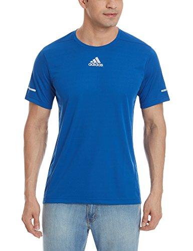 adidas Run tee M - Camiseta para Hombre, Color Azul, Talla S