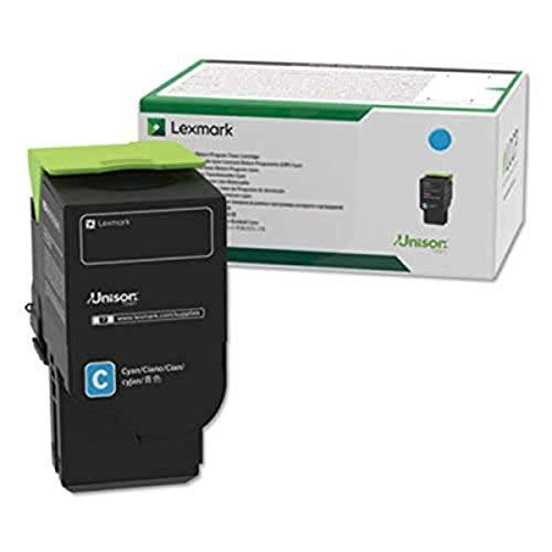 Lexmark C241XC0 Cyan Extra High Yield Return Program Cartridge Toner, Grey