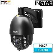 INSTAR IN-9020 Full HD schwarz - wetterfeste Überwachungskamera – LAN - WLAN IP Kamera - Aussen - Außenkamera - PTZ – 4X Zoom - steuerbar - Infrarot Nachtsicht - ONVIF - PIR - Audio - RTSP - Mikrofon