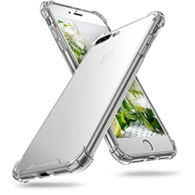 ORIbox iPhone 8 Plus Case & iPhone 7 Plus Case Clear, with 4 Corners Shockproof Protection, Soft Scratch-Resistant TPU Cover Case for iPhone 8 Plus Case & iPhone 7 Plus Case for Women & Men, Clear