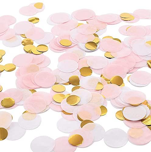 Papel de confeti de tejido redondo Multicolor, 1cm mesa de oro rosa...
