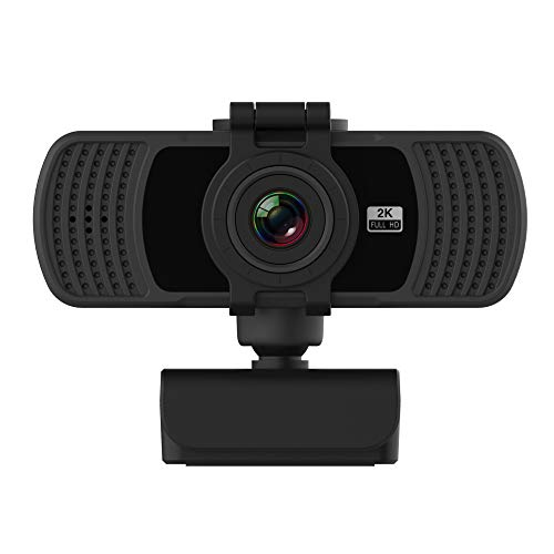 Full HD 2K USB Webcam, Live Camera,Built-in Noise Reduction Microphone Webcam, for PC Desktop Laptop Mac,Be Used for Video Calling, Studying, Conference, Live Video,Game Live Broadcast, 360° Rotation