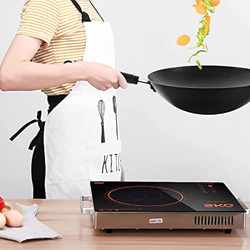 ksamwjf Wok para inducción Wok Pasado de Moda Forjado a Mano Wok Sin Revestimiento Sartén Antiadherente Wok Cocina de Gas Cocina de inducción Olla Especial  Producto c