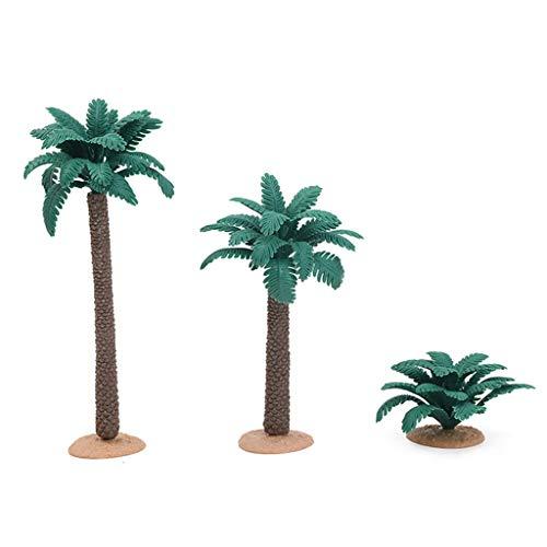 Sichuan 3pcs / Set Simulation Pflanzenbaum Modell Ornament Tiermodell Szene Zubehör