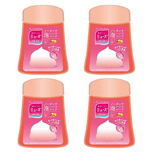 Japan Health and Beauty - Muse no-touch foam Hand Soap Refill Grapefruit 250ml ¡Á 4 pieces (about 1000 times) automatic dispenser sterilization moisturizingAF27