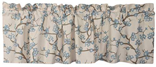 Crabtree Collection Kitchen Window Valances Kitchen Curtains Blue Blossom Window Valance Curtains (16x60)