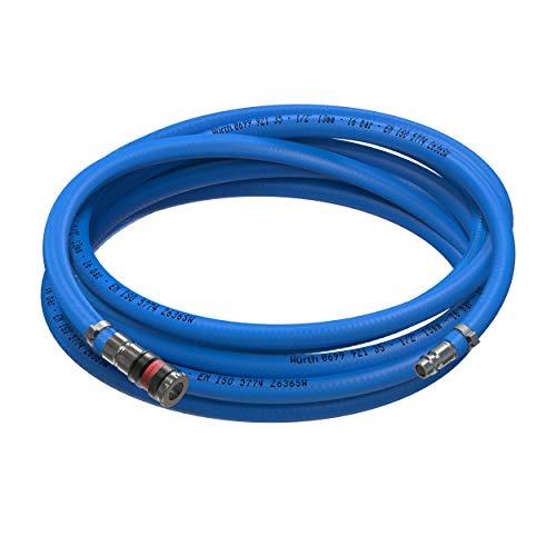 AUPROTEC Sicherheits Druckluftschlauch Set Würth PVC-Schlauch + S 2000 Sicherheits Kupplung (5m Meter, Innen Ø 13mm)
