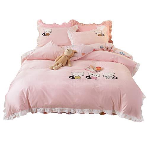ZSQAW Princess amigable con la Piel Dormitorio de Cuatro Piezas Hojas de Textiles Hogar Hojas de Textiles edredón Dormitorio Estudiante Dormitorio de Tres Piezas Ropa de Cama (Size : 1.5m)