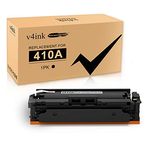 V4INK Compatible Toner Cartridge Replacement for HP 410A CF410A (Black, 1-Pack), for use in HP Color Laserjet Pro M452dn M452nw M452dw HP Color Laserjet MFP M477fdn M477fdw M477fnw Printer