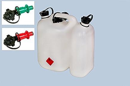 SWS Forst Jerricane double avec bec verseur et 2 syst/èmes de remplissage vert et rouge s/écuris/és Transparent 5,5/l 3/l