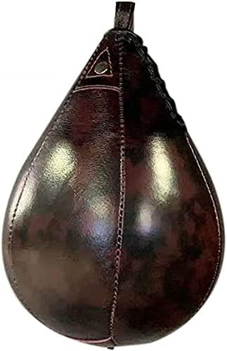 Leren boksbal hangende boks-peer swivel speedball boks-boksballen training set met pomp en injectienaald