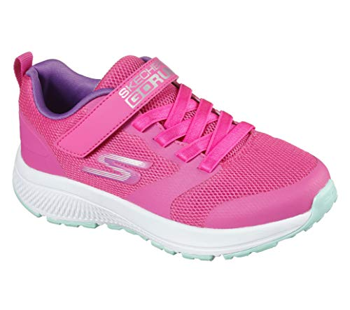 Skechers Go Run Consistent-Vibrant Dash Sneaker, Rose, 33 EU