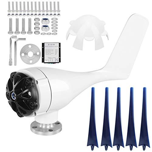 SALUTUYA Generador de turbinas eólicas -40 ℃ -80 ℃ Kit de turbinas eólicas para Carga doméstica Marina para(Blue, 48V)