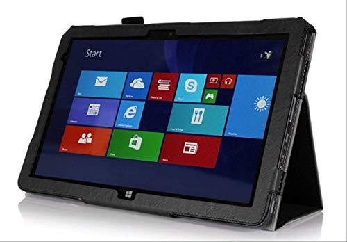 XXIUYHU Für Venue 11 Pro 5130 Pu LicheeTexture Ledertasche Für 10,8 Zoll Dell Venue 11 Pro 5130 Magnet Case +DisplayschutzfolieSchwarz