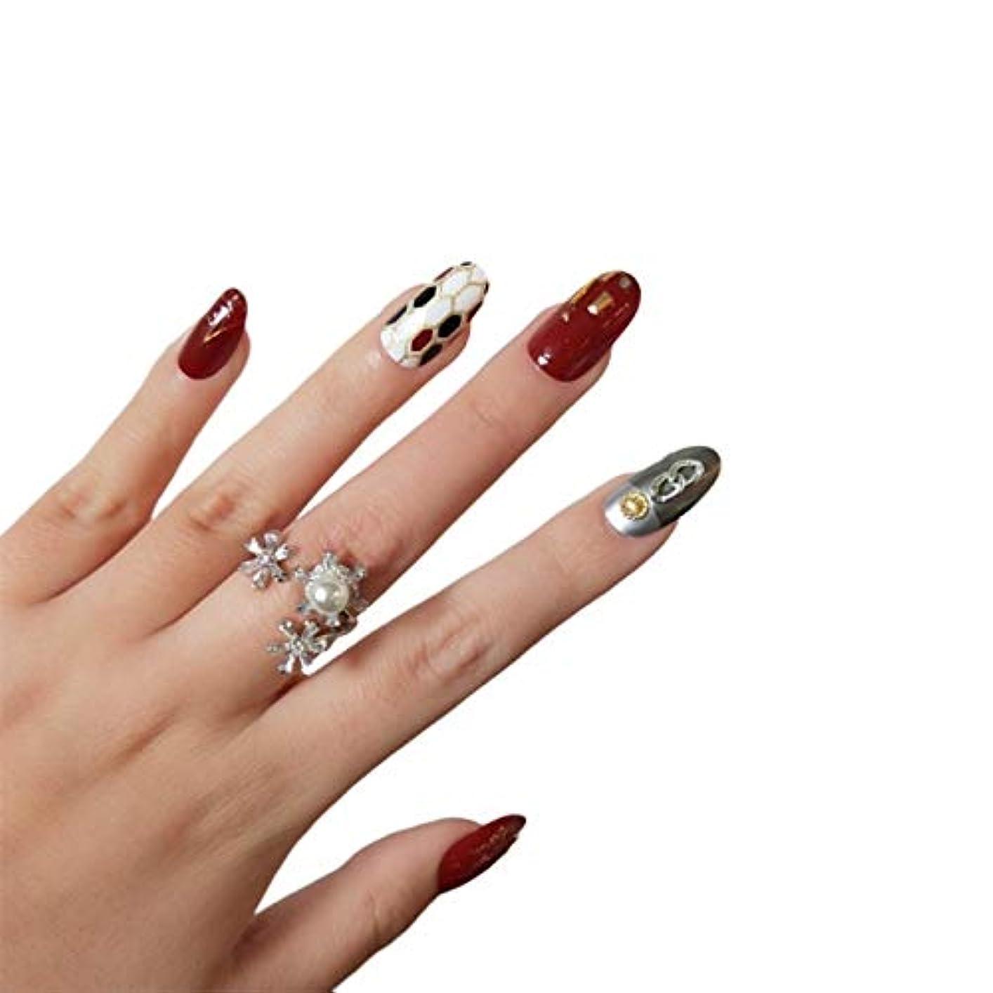 苦悪用愛情XUANHU NAIL PATCH ネイルチップ つけ爪 付け爪 つけ方簡単 ネイル デコネイルコレクション シール ハロウィン 母の日 パーティ 人気 毎日変身 24枚セット