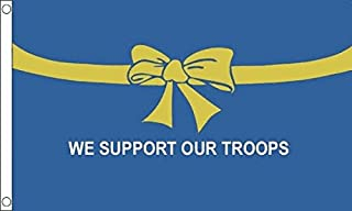 AZ FLAG We Support Our Troops Blue Flag 2' x 3' - American Army Flags 60 x 90 cm - Banner 2x3 ft
