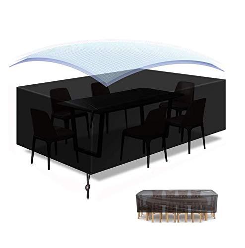 YWJH Impermeable Funda para Mobiliario de Exterior Mesa 420D Oxford Fabric Rectangular Funda para Muebles de Jardín 180 * 120 * 74 cm