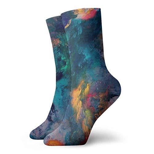 N / A Bunte Wolke Frauen Männer Socken Neuheit Socken Kleid Socken Casual Fashion Strümpfe 30 cm (11,8 Zoll)
