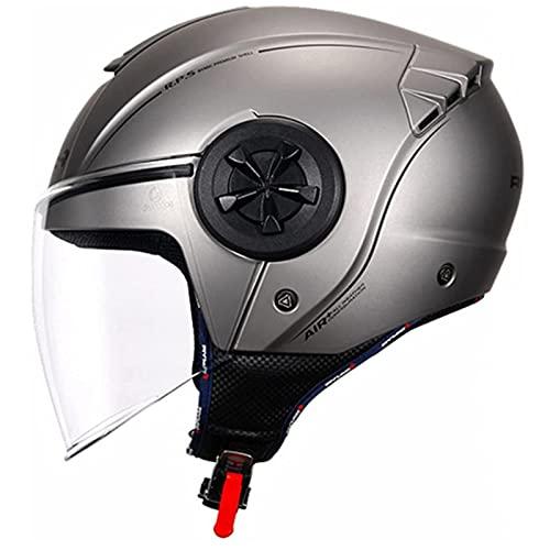 Medias Cascos De Motocicleta Retro, Medias Cascos Modulares De Motocicleta Unisex Con Viseras HD Aprobado Por DOT/ECE Motocicleta De Cara Abierta 3/4 Medio Casco C,M