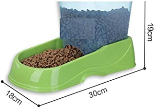 Pet Water Dispenser Pet Automatic Feeder Dog Bowl Food Container Storage Box(Green) Cat Travel Drink Bottle