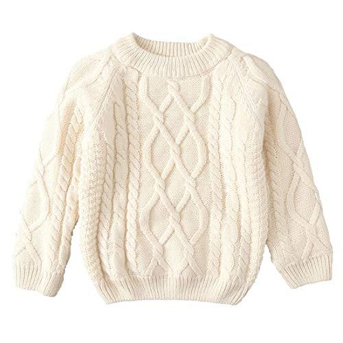 女の子男の子 ズ ベビー キッズ ジュニア 長袖 お出かけ ニットカーディガン セーター 裏起毛 遊び着 通学 普段着 通園 セーター 4種の色80-160cm 100cm, 白い