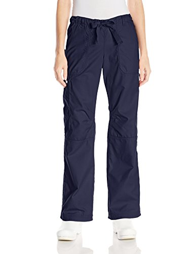 KOI Women's Lindsey Ultra Comfortable Cargo Style Scrub Pants, Navy, Large