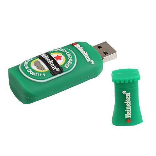 KESOTO Chiavetta USB 2.0 U Disk Memory Stick Carina Bottiglia di Birra Salta Thumb Drive - 256M