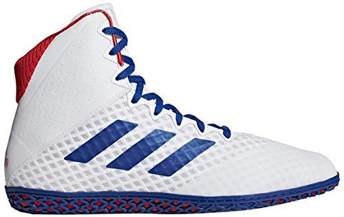 adidas Herren Mat Wizard 4 Wrestling Schuh, Weiß (Weiß/Royal/Rot), 46 EU