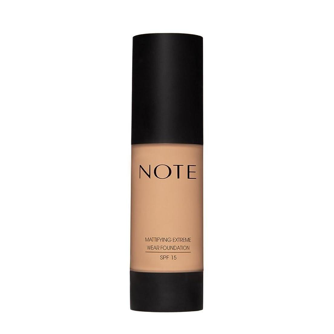 血統ジャンル知事NOTE Cosmetics 艶消しExtremeは財団ポンプを着用し、1.18液量オンス 第07