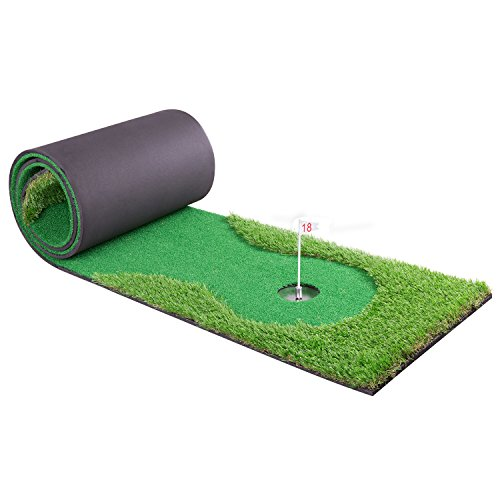 2.5ftx10ft Golf Training Mat Putting Green Indoor/outdoor Long Golf Practice Mat Green Challenging Putter