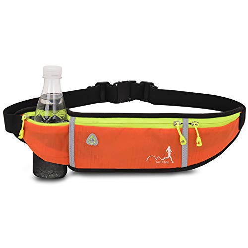 Riñonera para correr, ligera, ajustable, con correa elástica, bolsa para correr, accesorios para iPhone, Samsung, cinturón de corredor y riñonera de entrenamiento para hombres