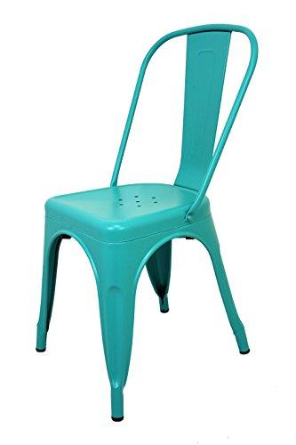 La Chaise Spaniola stoel TOLIX met rugleuning, turquoise 1 eenheid 85x54x45,5 Turkoois