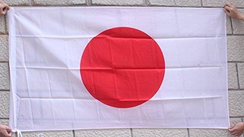 国旗 日本 日の丸 2サイズ ポリエステル (L(144cm×96cm))