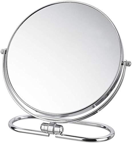 LHY- Maquillage Miroir Miroir Mural Pliant Portable Bureau Double Face Ronde de Bureau Grand Miroir La Mode (Size : 20 cm)