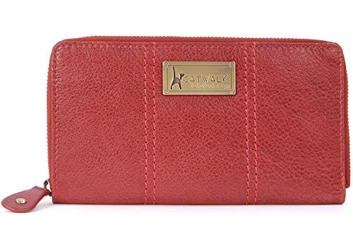 Catwalk Collection Handbags Catwalk Collection Handbags - Leder - RFID - Ledergeldbeutel mit Geschenkbox - GALLERY - Rot - RFID