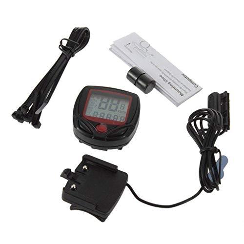 WANGXINQUAN Medidor de la Bicicleta Velocímetro Test de Velocidad cuentakilómetros Digital LCD...