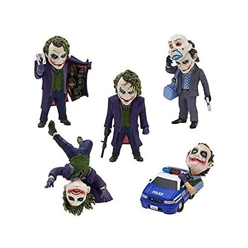 5 piezas The Dark Knight Joker caja de huevos cuerda colgante decoración muñeca 5 CM