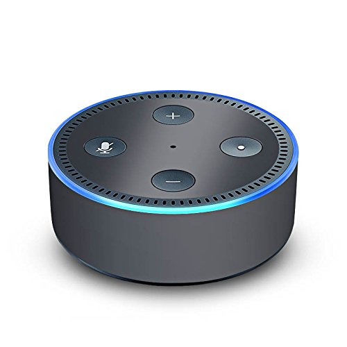 DeinDesign Folie kompatibel mit Amazon Echo Dot 2.Generation Skin Sticker aus Vinyl-Folie Anthrazit Grau Grey