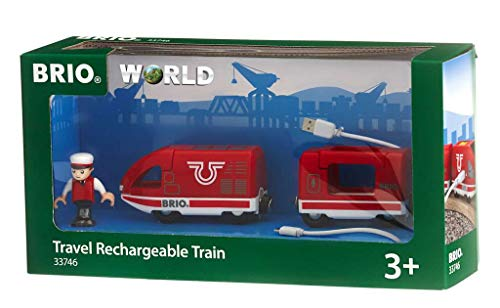 BRIO World Travel Rechargeable Train for Kids age 3 years and up compatible...