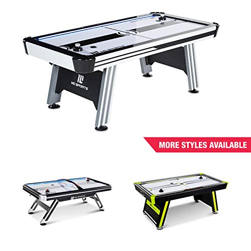 New MD Sports Air Hockey Table for Adults and Kids, with LED Lights and Sound Effects - Multiplayer ...
