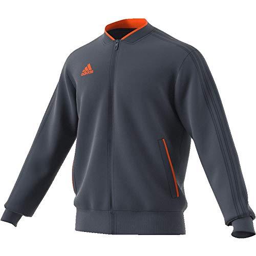 adidas Con18 PES Jkt Chaqueta de Deporte, Hombre, Multicolor (Onix/Naranja), S