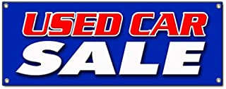"""72"""" Used CAR Sale Banner Sign Cars Sell Sales use Old Vehicles for Sale Sold Signs"""