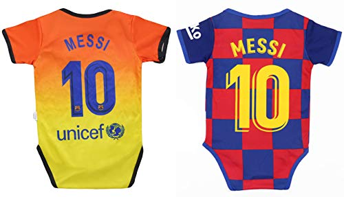 World Cup Baby New Lionel Messi #10 Soccer Jersey Baby Infant and Toddler Onesie Romper Premium Quality (6-12, Home & Away)