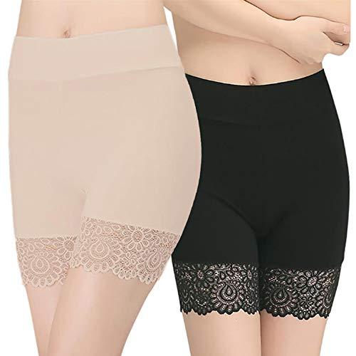 Damen Unterhosen Radlerhose Boxershorts-Hoher Bund Shorts Panties Lange Unterwäsche Miederhose Hose Unter Rock Unterhosen