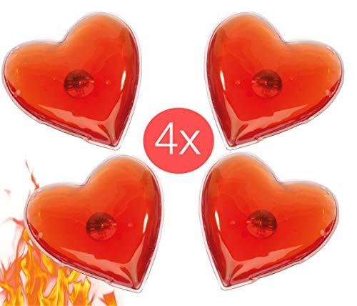 TK Gruppe Timo Klingler 4X Taschenwärmer Fingerwärmer Heizpad Wärmepads Wärmekissen Gelkissen knickbar wiederverwendbar Handwärmer Wärmer Wärmepack Herz