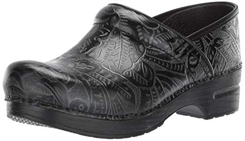 Dansko Women's Professional Black Tooled Clog 8.5-9 Wide US