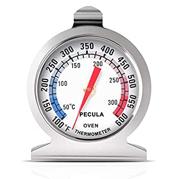 Oven Thermometer 50-300°C/100-600°F Oven Grill Fry Chef Smoker Thermometer Instant Read Stainless Steel Thermometer Kitchen Cooking Thermometer