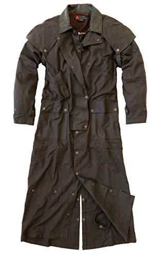 Abrigo de cera LongRider de estilo australiano, 3 en 1 en color marrón con forro interior adicional. marrón M